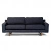 West Elm Eddy sofa dark gray