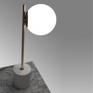 West Elm Sphere + Stem Table Lamp - Brass