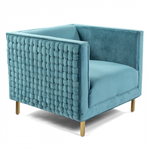 Lulu & Georgia Caieen Chair, Teal