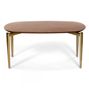 West Elm Ellipse Coffee table - walnut