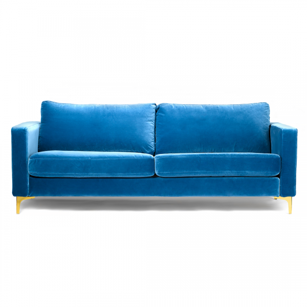 Wondrous Custom Slipcover For Ikea Karlstad Sofa Velvet Blue Short Links Chair Design For Home Short Linksinfo
