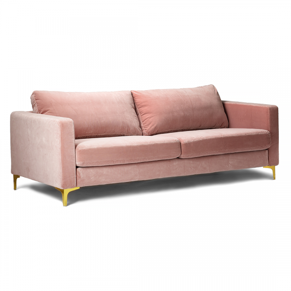 Incredible Custom Slipcover For Ikea Karlstad Sofa Velvet Blush Gmtry Best Dining Table And Chair Ideas Images Gmtryco