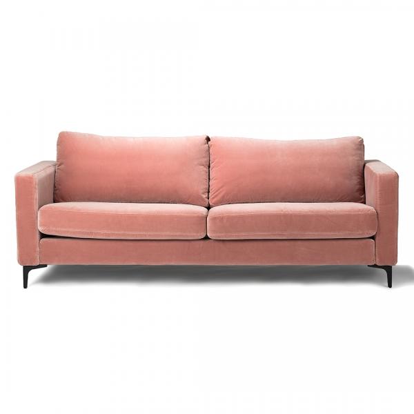 Custom Furniture Slipcovers: Custom Slipcover For IKEA KARLSTAD Sofa, Velvet, Blush