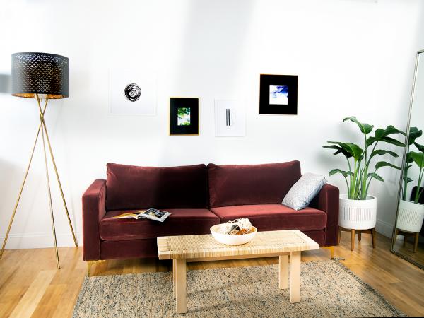 Strange Custom Slipcover For Ikea Karlstad Sofa Velvet Burgundy Unemploymentrelief Wooden Chair Designs For Living Room Unemploymentrelieforg
