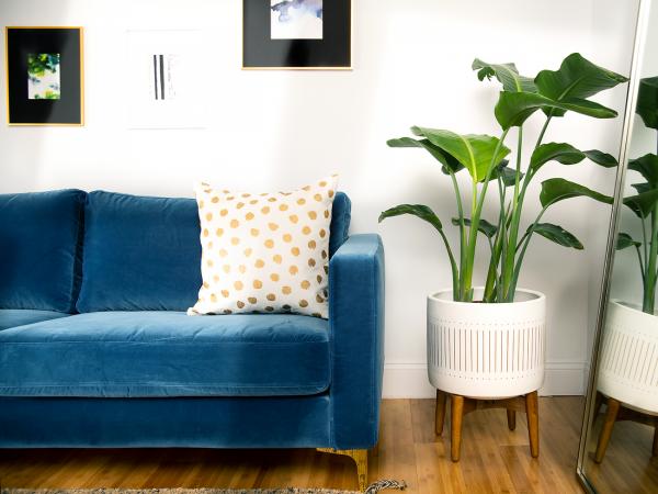 Custom Slipcover for IKEA KARLSTAD Sofa, Velvet, Blue ...